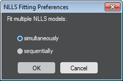 NLLS Fitting Preferences