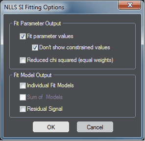 NLLS SI Fitting Options