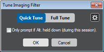 Tune imaging filter