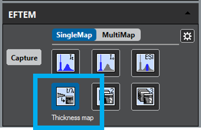 Choose thickness map button.